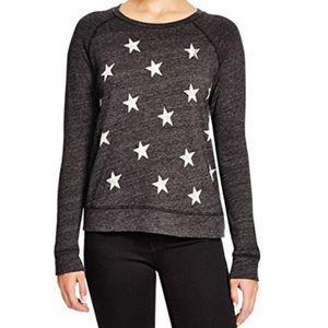 Sundry scatter stars charcoal raglan LS top/ 1